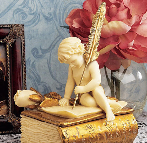Cherub Love Letter Box For Jewelry Trinkets Or Rosary