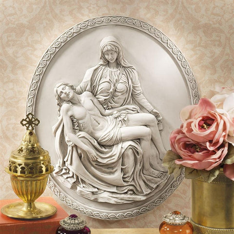 Pieta Wall Sculpture St. Peters Basilica