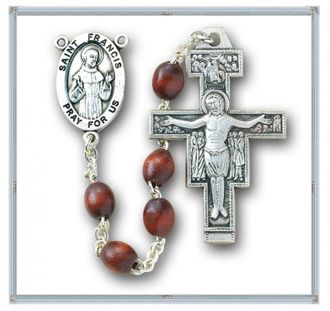 The Saint Francis Crown Rosary With The San Damiano Crucifix
