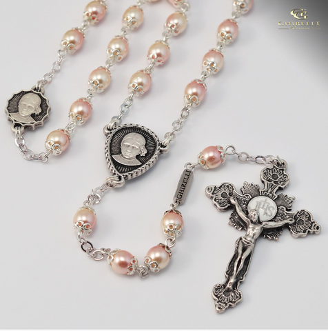 Saint Jacinta Marto Silver Plated Rosary By Ghirelli