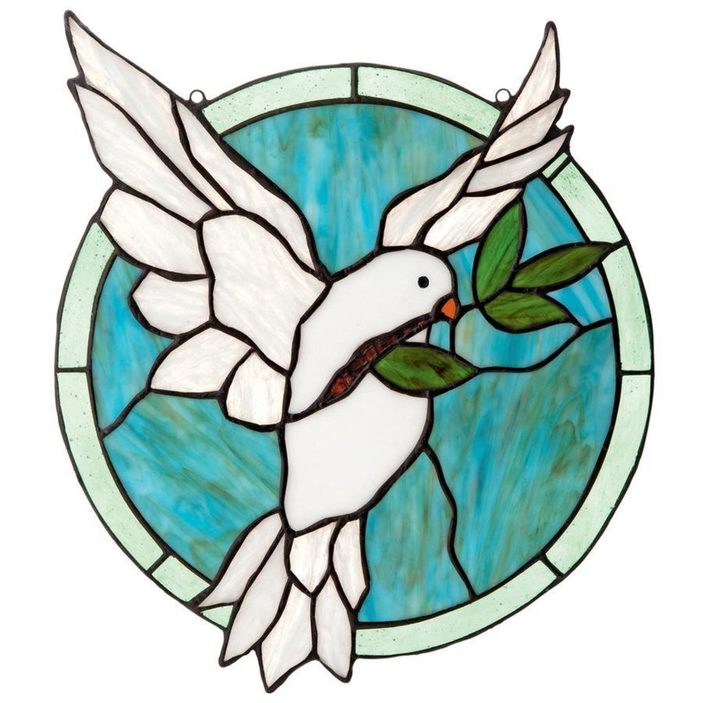 Holy spirit dove stained glass hanging