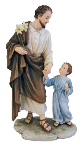 Saint Joseph And Child Jesus Holding Hands Statue  Veronese Collection SOLD OUT COMING SOON