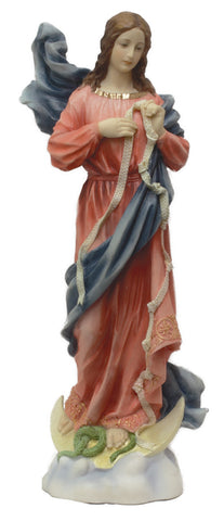 "Madonna Mary Under Knots Madonna Statue Virgin Mary Helps Us OverCome Sin 12"" Veronese Collection"