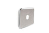 Light Switch Cover - 1 Gang - Brushed Stainless