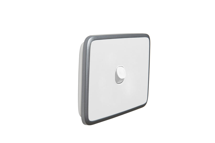 Clipsal Classic 4 Gang Push Button Light Switch With Brushed Stainless Steel Cover