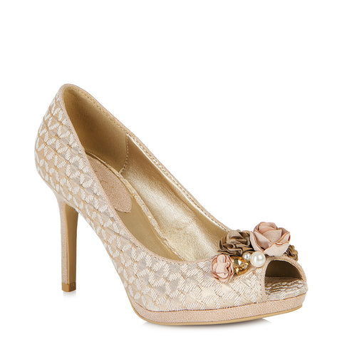 Ruby Shoo Sonia court shoe in Rose Gold