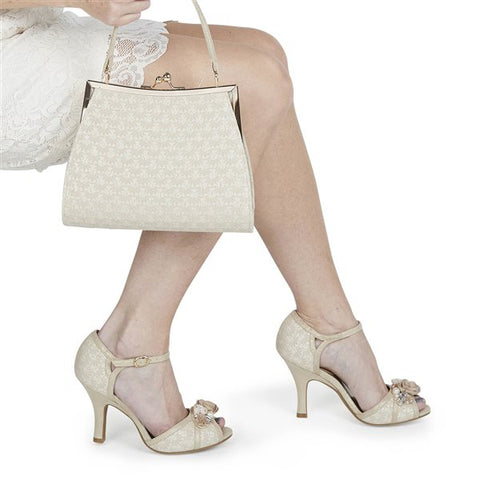 Ruby Shoo Toulouse CREAM/GOLD Bag to match clarissa