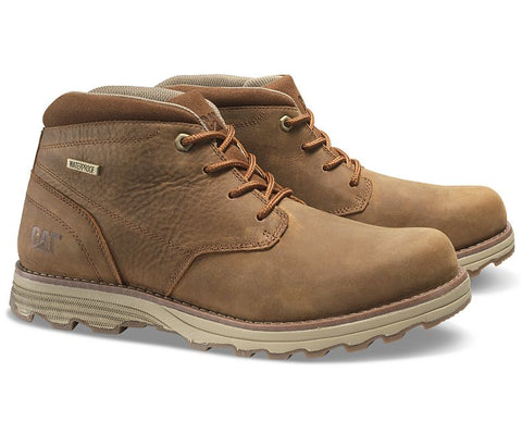 Caterpillar Mens Elude Brown Waterproof Boot