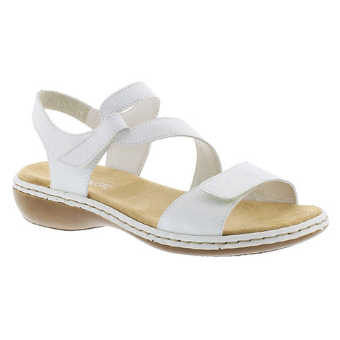 Rieker Ladies WHITE 659C7-80 Sandals