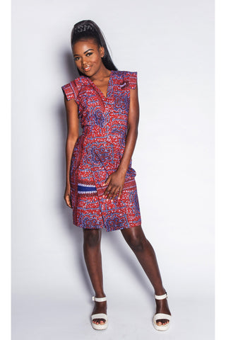 African Print Wrap Dress Womens by JEKKAH