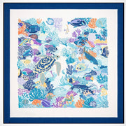 Bugatchi 'Under the Sea - White' Pocket Square