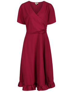 Bryony Scarlet Red Tea Dress
