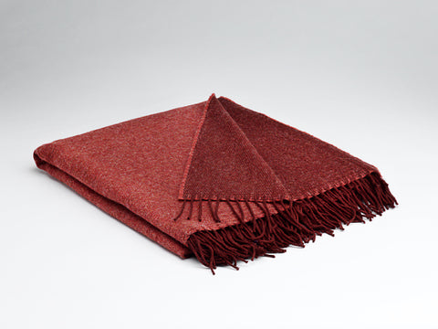 McNutt | Heritage Collection Wool Blanket - Hot Coral Reversible