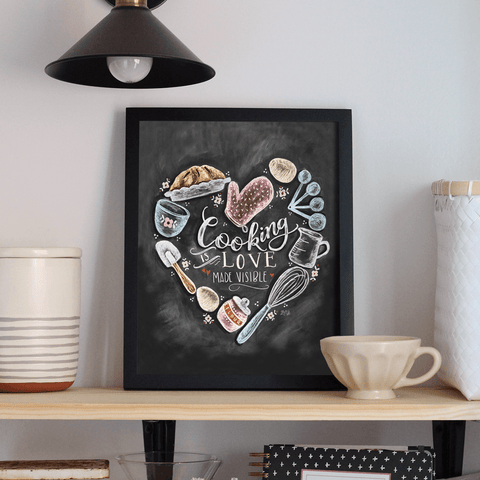 Cooking Is Love Made Visible - Print & Canvas
