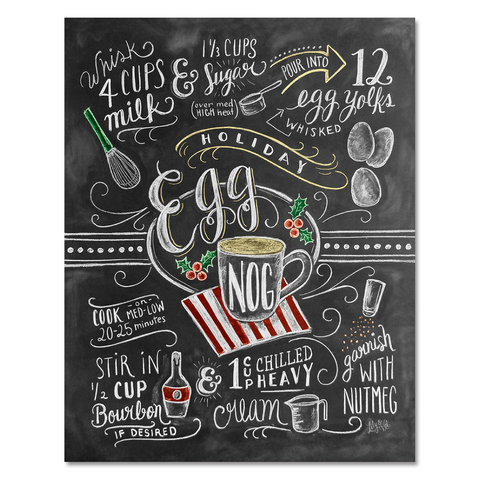 Egg Nog Recipe - Print & Canvas