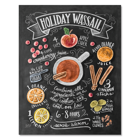 Holiday Wassail Recipe - Print & Canvas
