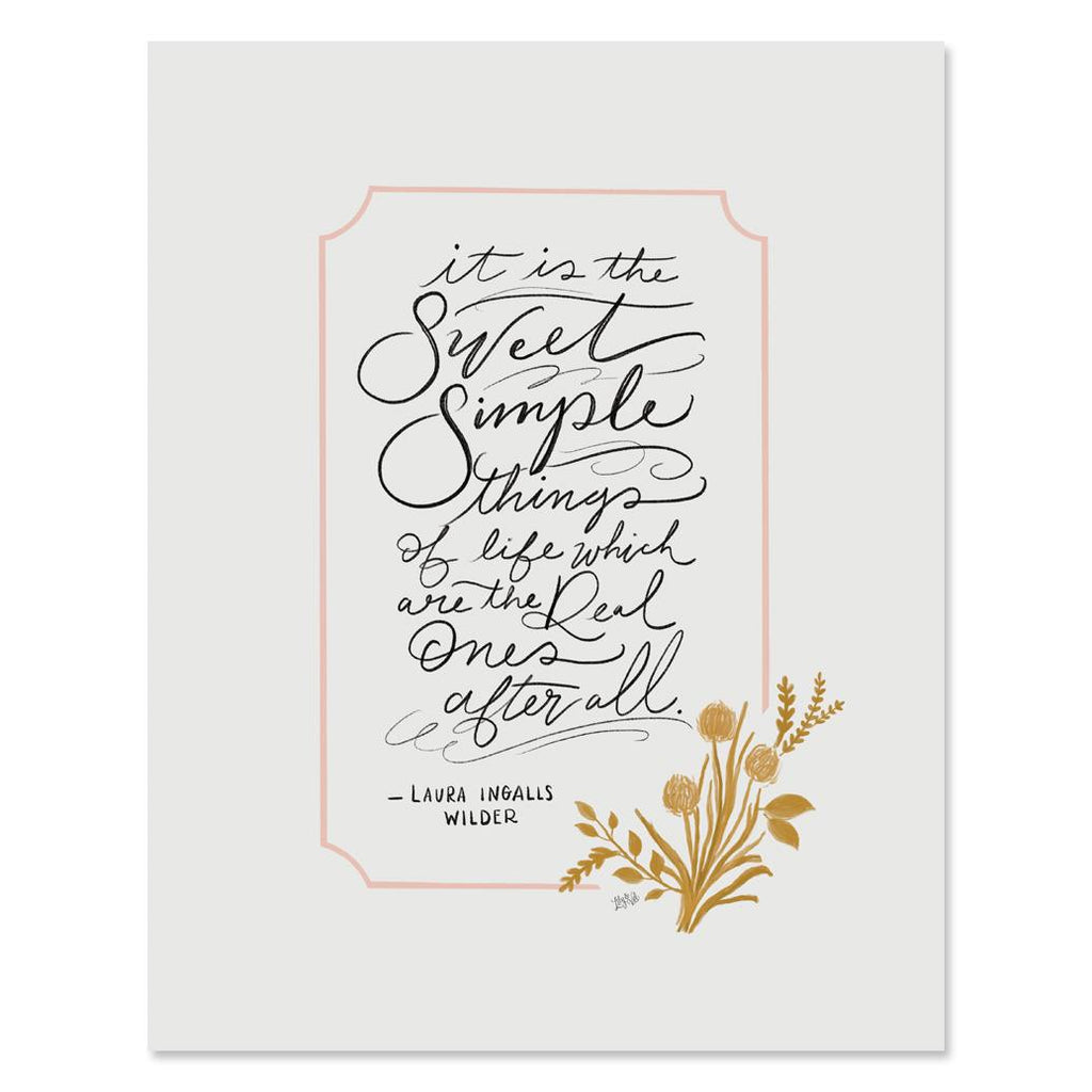 Sweet Simple Things - Print & Canvas