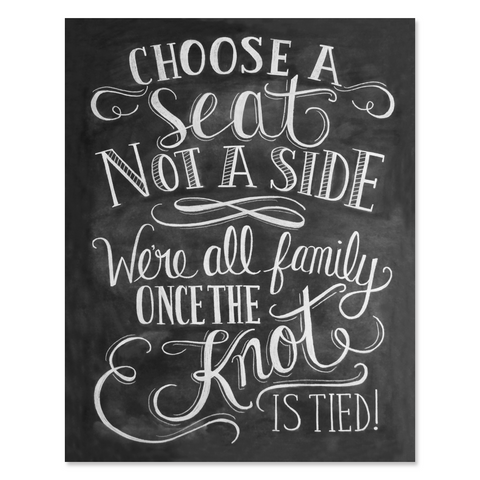 Choose a Seat Not a Side - Print