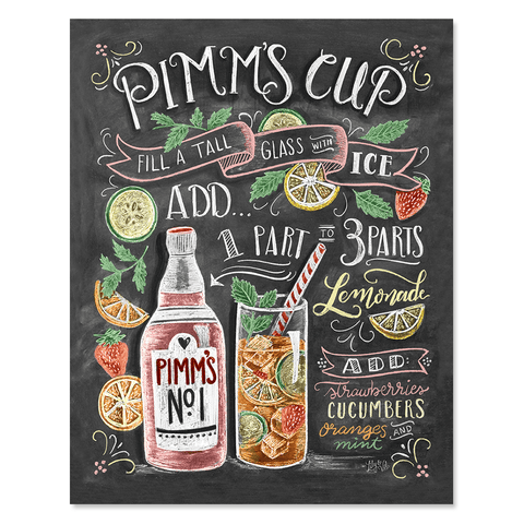 Pimm's Cup Recipe - Print & Canvas