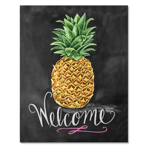Pineapple Welcome - Print & Canvas