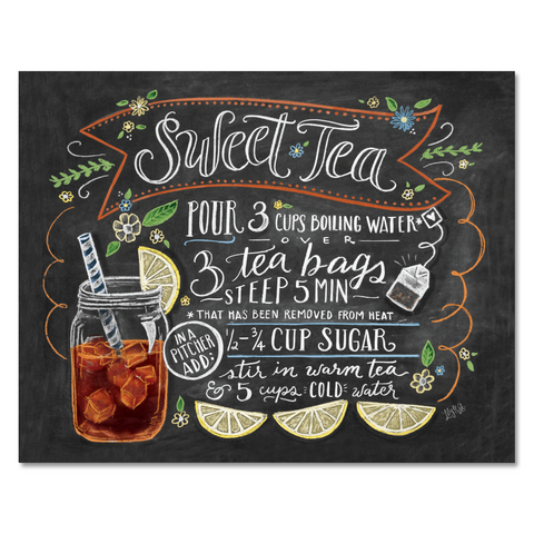 Sweet Tea Recipe - Print & Canvas