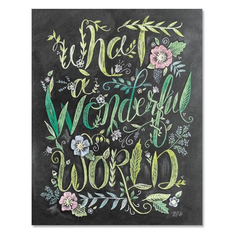 What a Wonderful World - Print & Canvas
