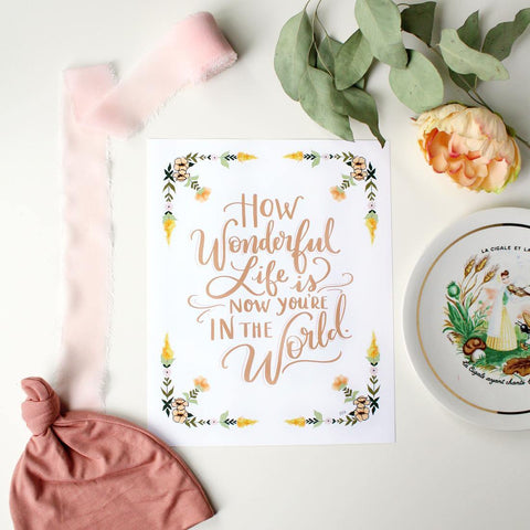 Now You're In The World - Girl - Print & Canvas