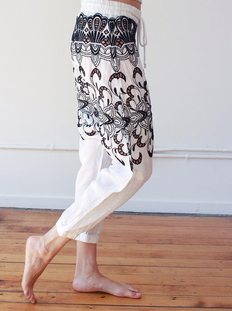 Embroidered Harem Pant