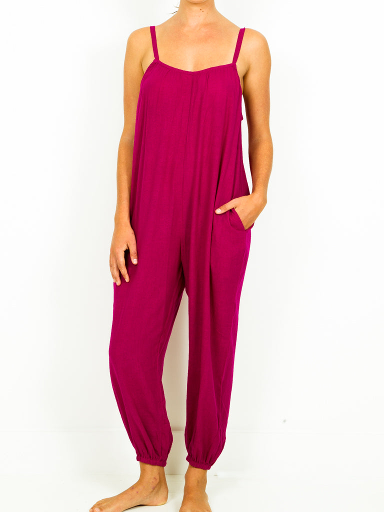 Silk Noile Jumpsuit - 3 colors