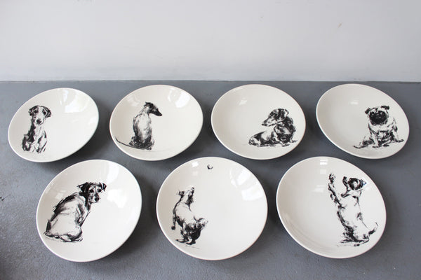 Large Shallow Bowls - charcoal sketches