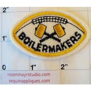 "Boilermakers Football Patch Embroidered 1.5"" x 2.5"""