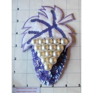 "Designer Motif Pear Purple with Leaf 6"" x 4.5"""