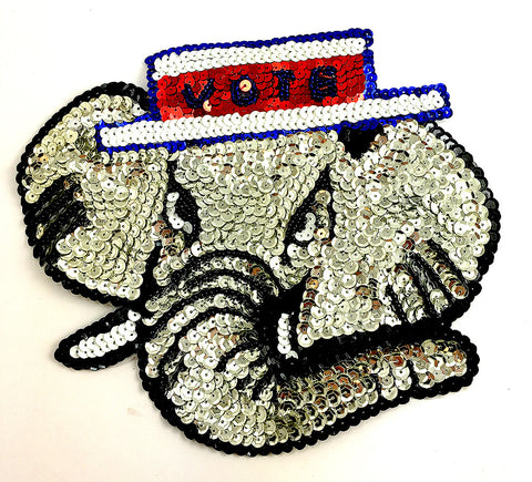 "Elephant Vote Applique 7"" x 8.5"""