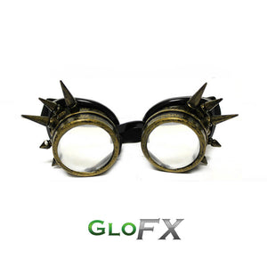 Brass Spike Diffraction Goggles - Spiral Diffraction