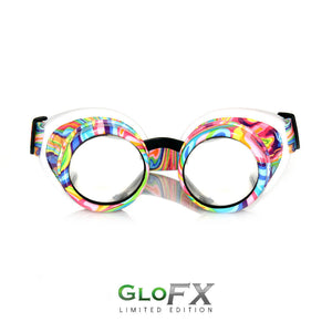 Kandi Swirl Diffraction Goggles - Clear Diffraction