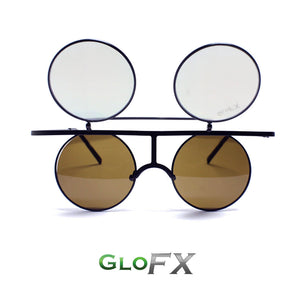 Flip Diffraction Glasses - Vintage Round