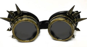 Brass Spike Diffraction Goggles - Tinted Diffraction