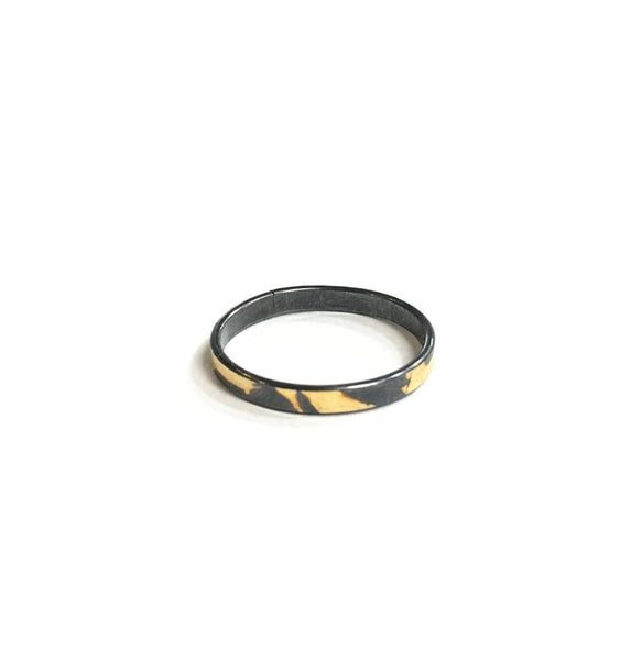 Blackend Silver & Gold Ring