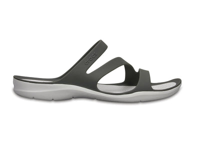 Crocs Swiftwater Sandals W in Black / White outer view
