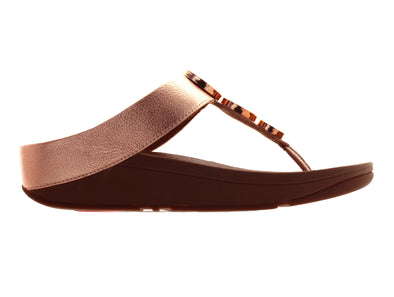 Fitflop Halo Toe Thong in Rose Gold outer view