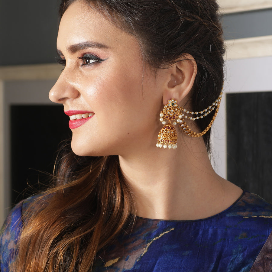 Parvi Jhumka Earrings