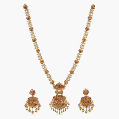 Arina Long Necklace Set