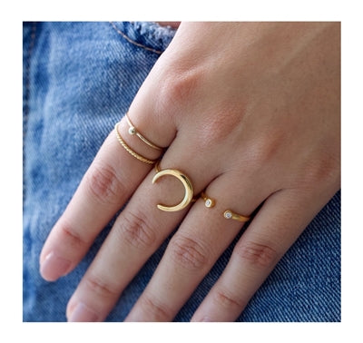 Gold Moon Ring