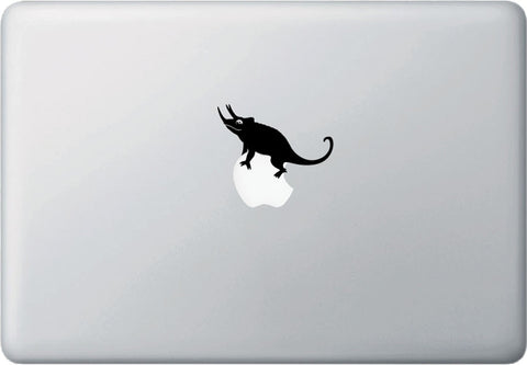 "MB - Jackson's Chameleon Standing - Laptop Decal - ©YYDC (1.75""w x 1.75""h) (BLACK)"