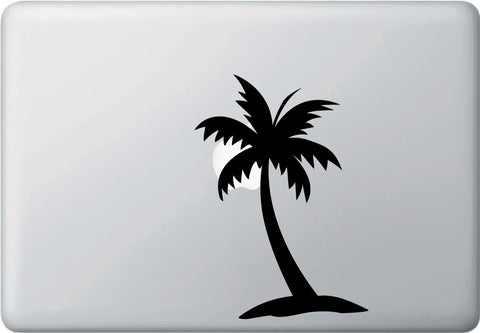 "MB - Palm Tree Moon - Laptop Vinyl Decal Sticker - ©YYDC (4.5""w x 6.5""h) (BLACK)"