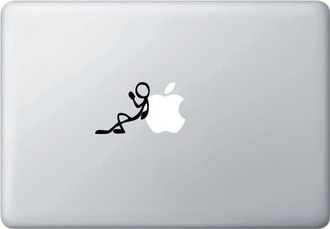 MB - CHILL - Stick Figure - Vinyl Laptop or Macbook Decal (BLACK)