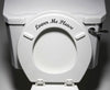 "TOIL - ""Lower Me Please"" - Toilet Seat Bathroom - Vinyl Sticker Decal Copyright © YYDC (Colors)"
