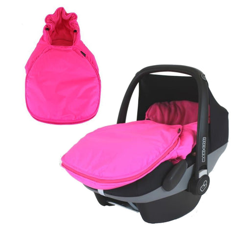 Carseat Footmuff Raspberry Pink Fits Graco Logico Auto Baby Pram Travel System
