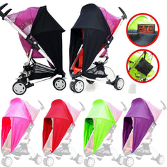 Baby Travel Sunny Sail Fits Silver Cross Freeway Pop Sleepover 3d Pram System