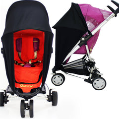 Baby Travel Sunny Sail Fits Silver Cross Freeway Pop Sleepover 3d Pram System - Baby Travel UK  - 3